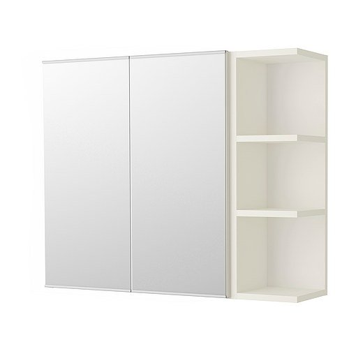 Ikea Mirror cabinet 2 doors/1 end unit, white 31 1/8x8 1/4x25 1/4 -