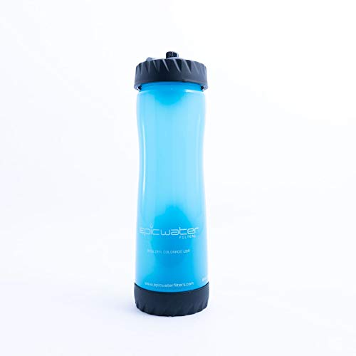 The Olympian   Sports Bottle with Water Filter   Blue   25-o