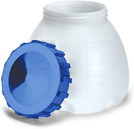 Homeright C900097.M Super Finish Max Container and Lid, White and Blue