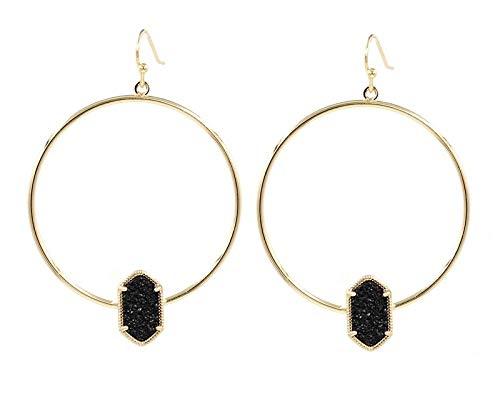 (Copper Circle Oval Drop Earings | Fashion Jewelry | Cute Multicolor Oval Drop Earrings for Women)