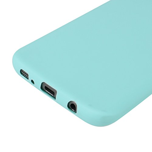 Galaxy S7 Edge Hülle Dünn Silikon, Asnlove Handy Schutzhülle für Samsung Galaxy S7 Edge Hülle TPU Silikon Backcover Case Handytasche Einfarbig Telefon-Kasten Tasche Schutz Cover Design Schwarz 2er green