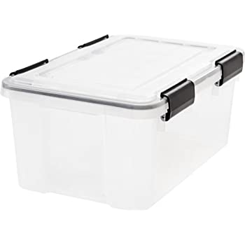 IRIS  Weathertight Storage Box, 19 Quart - Clear