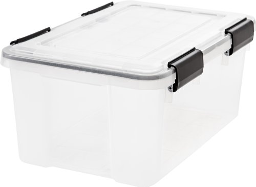 IRIS Weathertight Storage Box - 19 Quart - Clear