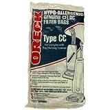 vacuum cleaner bags oreck cc - Oreck Upright Vacuum Cleaner Type CC Bags