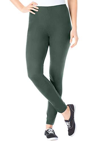 Woman Within Women's Plus Size Petite Stretch Cotton Legging