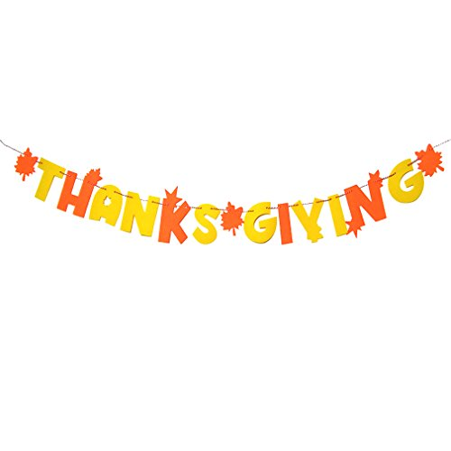 Lowest Price! Tofantifer Thanksgiving Decorations Banner Favors Home Party Hanging Supplies Baby Sho...