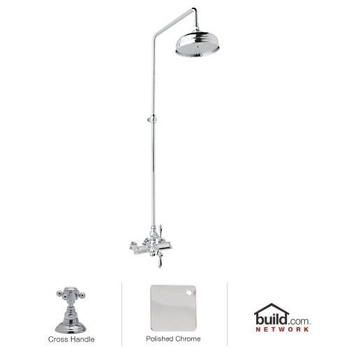 Exposed Thermostatic Bath Shower (Rohl AKIT49172XMAPC Country Bath Shower System with Exposed Thermostatic Valve, Polished Chrome)