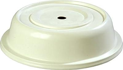 "Carlisle 91055202 Polyglass Plate Cover, 10.63"" Bottom Diameter x 2.75"" Height, Bone (Case of 12"