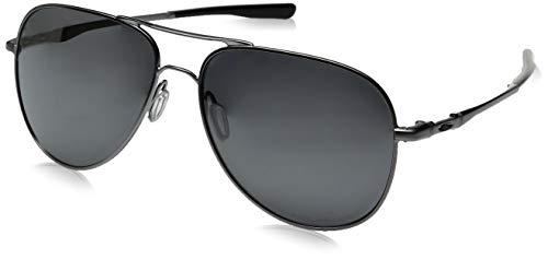 Oakley Elmont M & L Polarized Iridium Aviator Sunglasses, LEAD, 58 ()