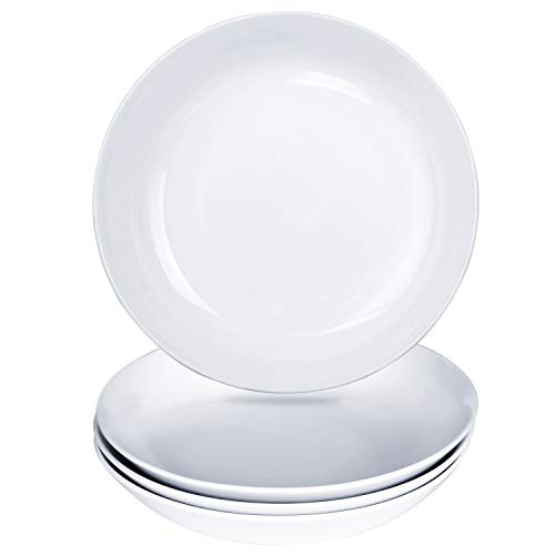 Alt-Gt Porcelain Dinner Plates Set of 4, Bread and Butter Pates, 8 inch Pasta Plates Dinnerware Set for - Plate Deep Pasta