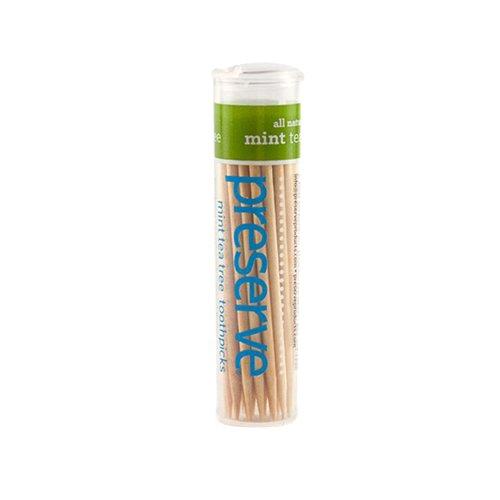 Preserve Flavored Toothpicks, Mint Tea Tree, 35 Count