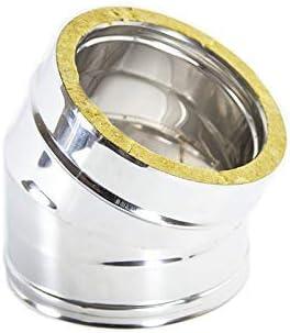 curva inox aisi 304 50 mm spessore 1,5 mm 90° a saldare per sistemi di scarico