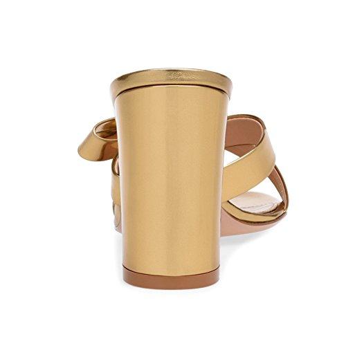Plateforme Haut Mules Fête Sexy Talon Femme Soirée 35 Gold Chaussures Club 072 Bowknot Mariage Transgenre KJJDE TLJ wxIqv0RS0