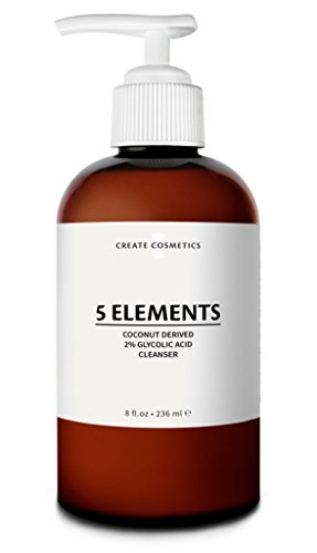 5 Elements Cleanser - Glycolic Acid & Coconut Derived Face & Body Wash for Blemished Skin by Create Cosmetics - 8 fl.oz