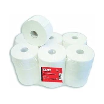 Pack de 18 rollos de papel higiénico industrial Clim Profesional® suave y extrablanco de 2 capas con precorte: Amazon.es: Industria, empresas y ciencia