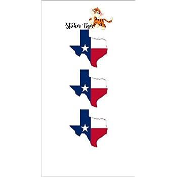 Texas Flag Map Motorcycle Helmet DecalHard Hat StickersWelder Labels Tex