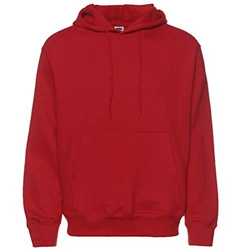 Heheja Versione Allentata Cappuccio Rosso Felpa Con Addensare Autunno Pullover Inverno Casuale Uomo E HSvxqH4