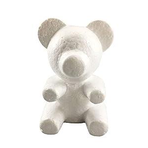 cyclamen9 Foam Bear Mold,Modelling Foam Bear White Craft Balls for DIY Christmas Party Decoration Supplies Gifts Rose Bear Teddy Bear Artificial Rose Flower Bear Anniversary Valentines Gift 89