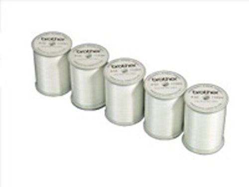 Brother  SAEBT Embroidery Thread, White (Pack of 5) by Brother