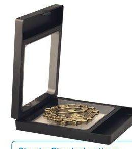 3175Q uoK5L - Black Challenge Coin / Medal Illusion Presentation Box by Decade Awards