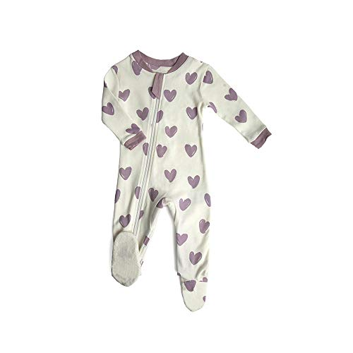 (ZippyJamz Organic Baby Footed PJs w/Inseam Zipper - Stole My Heart (18-24 Mos) )