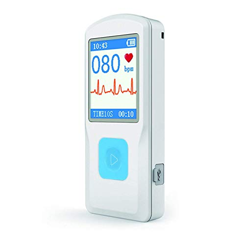Portable ECG/EKG Monitor Heart Rate Monitor with Bluetooth for iOS and Android