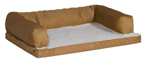 MidWest Quiet Time e'Sensuals Bolstered Orthopedic Dog Bed Sofa 36 Inches by 54 Inches in Tan. Review
