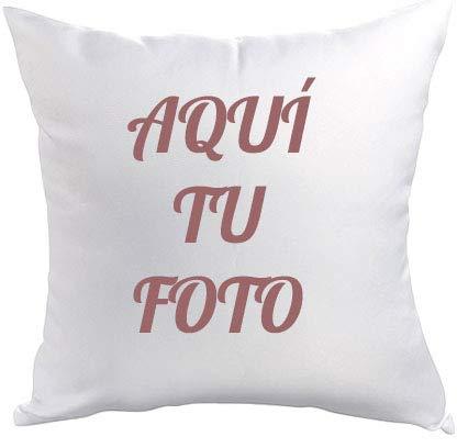 AR Regalos Cojín Personalizado con Foto (50 x 50 cm): Amazon ...