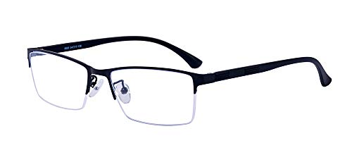 ALWAYSUV Half Frame Clear Lens Business Glasses Prescription Optical Glasses ()