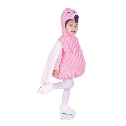 Flamingo Halloween Costumes (Underwraps Costumes Baby's Flamingo Belly-Babies, Pink, Medium)