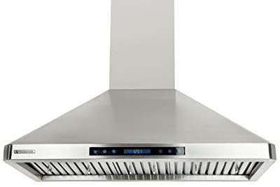 XtremeAir PX02 Wall Mount Range Hood with 900 CFM Baffle Filters with Grease Drain Tunnel