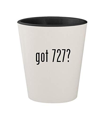got 727? - Ceramic White Outer & Black Inner 1.5oz Shot Glass ()
