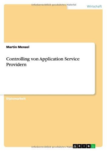 Controlling von Application Service Providern (German Edition) ebook