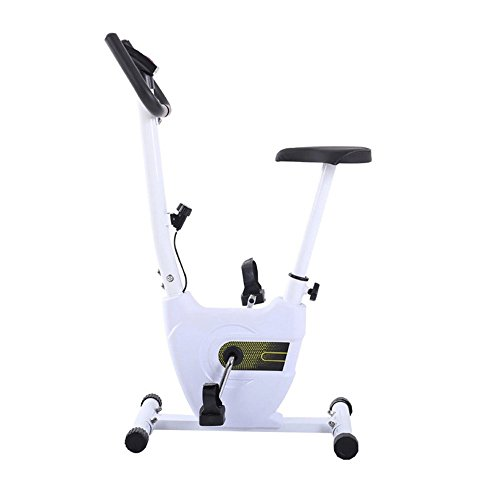 HLH-Fitness Equipment Durable Folding Magnetic Control Rotating Spinning Bicycle Home Ultra-Quiet Two-Way Mini Ribbon Exercise Bike Non-Slip (Color : White)