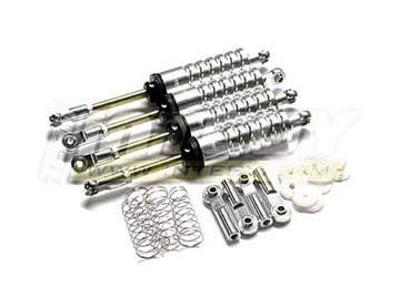 (Integy RC Model Hop-ups C22763SILVER MSR10 Shock (4) for AX10 Scorpion, Wheely King & Rock Crawlers)