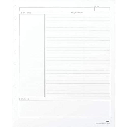"""Staples Arc System Project Planner Refill Paper, White, 8.5"""" x 11"""""""