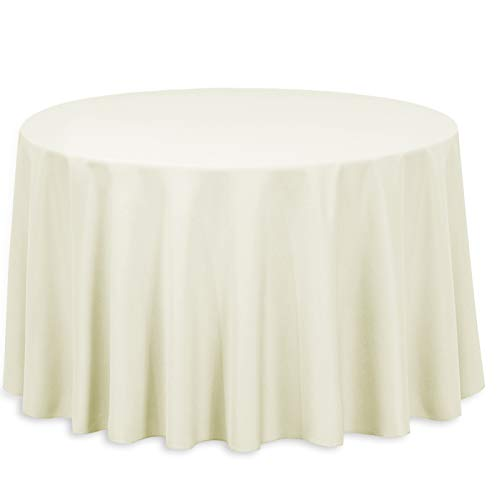 (LinenTablecloth 108-Inch Round Polyester Tablecloth)