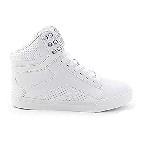 - Pastry Pop Tart Grid Youth Dance Sneakers, White, Size 11