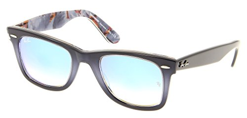 Ray Ban RB2140 11984O 50 Gradient Gray on Blue Sunglasses Bundle-2 - Blue Ban Ray Gradient Gray