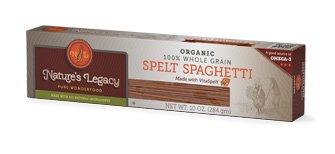 (Nature's Legacy Organic Whole Grain Spelt Spaghetti Pasta (Case of 12 - 10oz.))