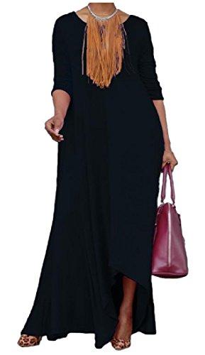 Swing Solido Vestito Comodo Sciolto All'aperto Donne Grande Tasche Modo As3 Xw1fxI0qB