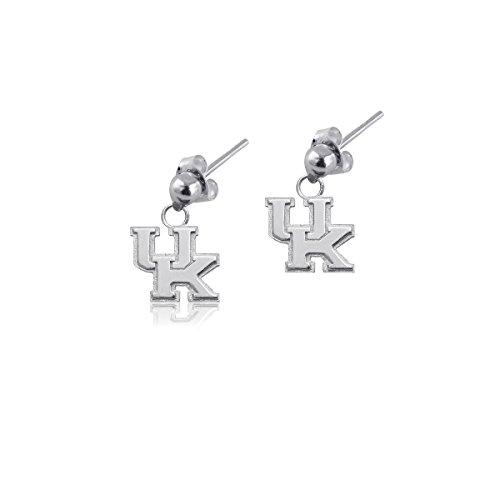 (University of Kentucky Wildcats UK Sterling Silver Jewelry by Dayna Designs (Post Dangle Earrings))