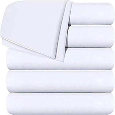 Soft Brushed Microfiber Fabric Shrinkage /& Fade Resistant Top Sheet Full, Grey Easy Care Utopia Bedding Flat Sheets Pack of 6