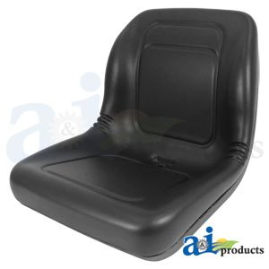 (Lawn Mower, Garden Tractor UTV / ATV Seat Black High Back Vinyl Universal Mount B1LGT100BL)
