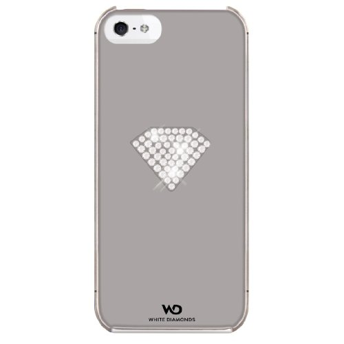 "White Diamonds Handy-Cover ""Rainbow"" für Apple iPhone 5/5s, Silber"