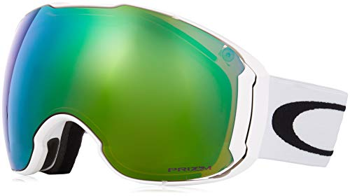 Oakley Men's Airbrake XL Snow Goggles, Polished White, Prizm Jade Iridium, ()