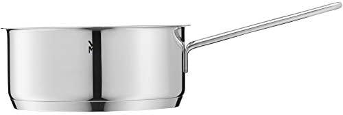 WMF Compact Cuisine Casserole 20 cm, couvercle en verre 2,5 l, acier inoxydable Cromargan poli, graduation intérieure, casserole à induction, sans revêtement