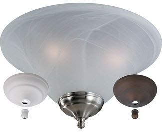 - Monte Carlo MC04-L Transitional Three Fan Light Kits Collection in Multi Finish, White Faux
