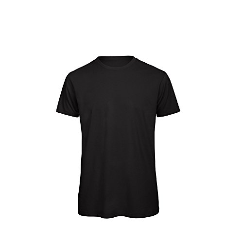 8e440a2db10a B C Mens Favourite Organic Cotton Crew T-Shirt (M) (Black)