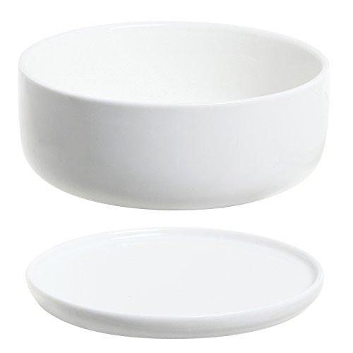 6 Inch Modern White Ceramic Round Designer Succulent